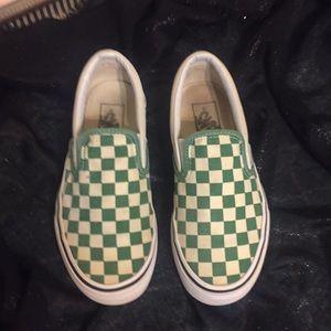 Green Checkered Vans